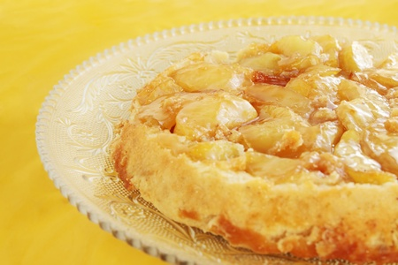 Hot apple of pirogues with the caramel photo