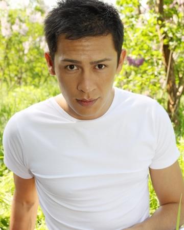 Portrait of a successful, confident of Asian men