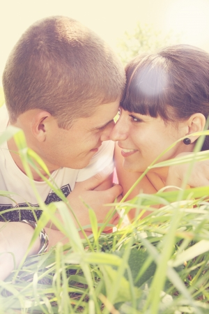 Young couple looking into each others eyes Stock Photo - 14903803