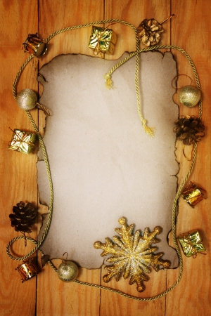 Christmas still life on a wooden background photo