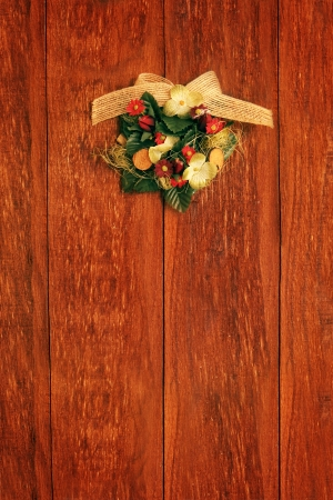 christmas still life decorative vintage floral wreath photo