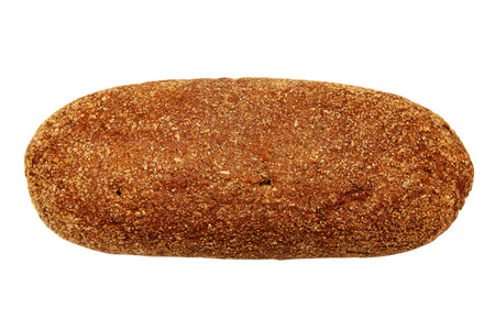 rye bread with bran isolated on white photo