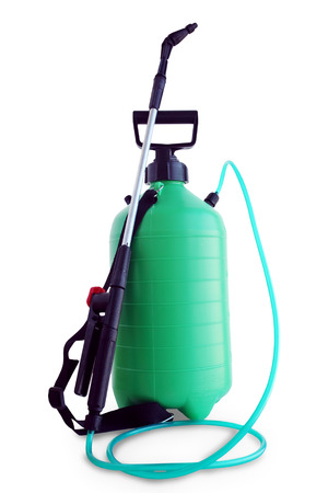 Manual garden sprayer isolated on white background