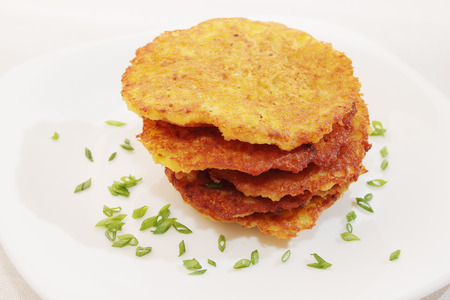 ruddy Potato pancakes, Ukrainian national dish meal photo