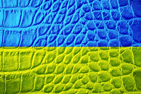 Yellow-blue flag of Ukraine, grunge photo photo