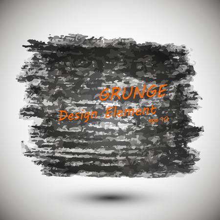 black background, drawn in black chalk, design element Vettoriali