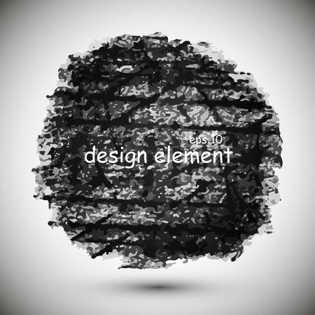 black background, drawn in black chalk, design element Illustration