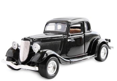 Model antieke auto, geïsoleerd op een witte achtergrond Stockfoto