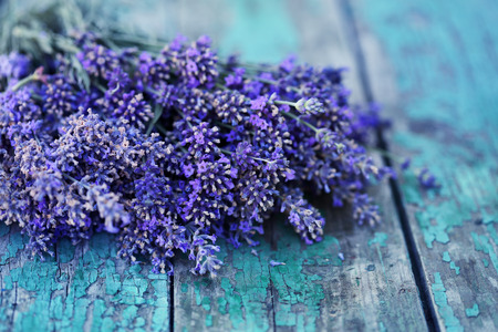 turquoise: Beautiful, large bouquet of lavender Stock Photo
