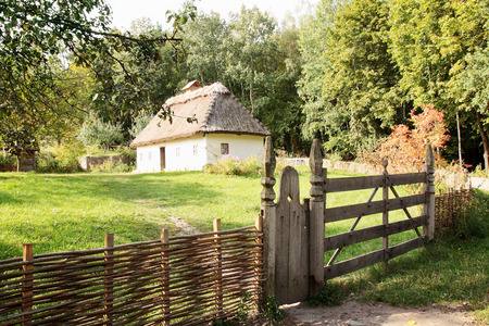 pirogovo: Sample of old houses Ukraine in Pirogovo museum in Ukraine Editorial