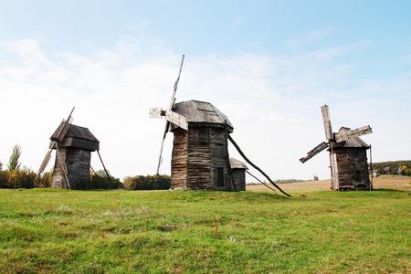 pirogovo: Old windmill in Pirogovo museum in Ukraine
