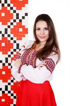 national costume: woman in the Ukrainian national costume, isolated