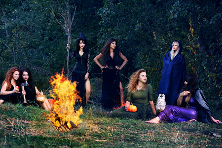 witches on the Sabbath arrived in the forest Reklamní fotografie