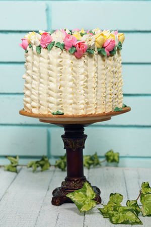 Spring Cake on the table Stock Photo