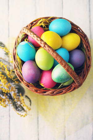 copys pace: Basket with Easter eggs
