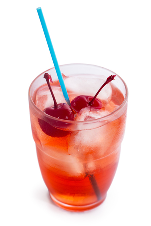 Drink with ice and cherry