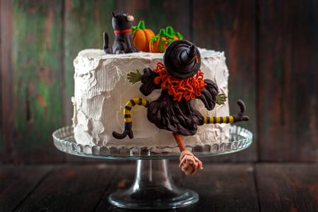 Cake with a witch Zdjęcie Seryjne - 85684645