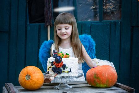 Angel and cake