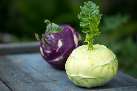 Fresh kohlrabi cabbage