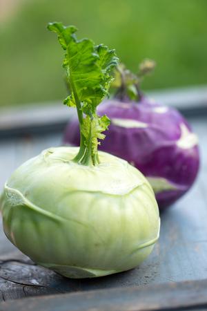 fresh cabbage kohlrabi Zdjęcie Seryjne