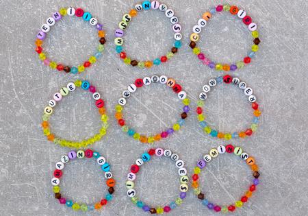 Bright plastic bracelets for girls Reklamní fotografie
