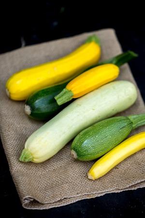 freshly cut yellow squash