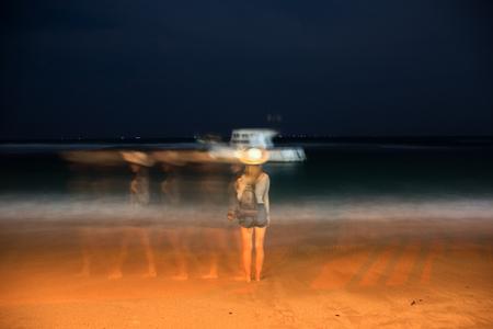 Ocean in the night