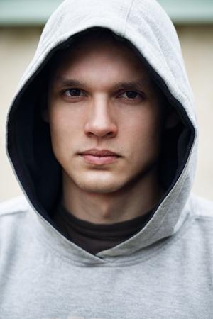 Portrait of a man in a hood Reklamní fotografie