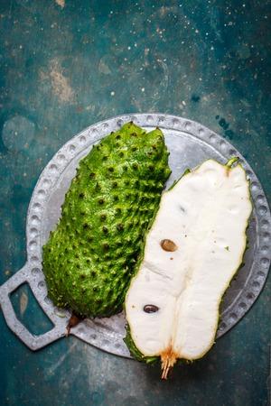 cut fruit of guanabana
