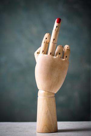 obscene hand gesture