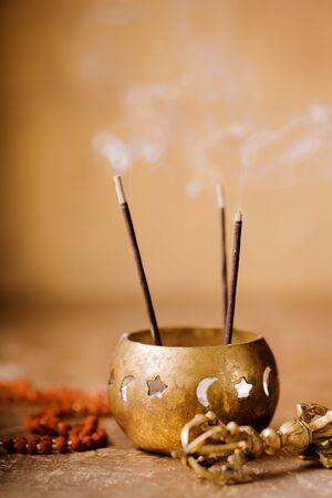 vajra, rudraksha beads for a healing session in reiki flow