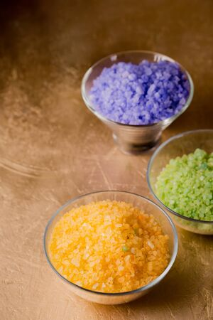 Sea salt of different colors and aromas to cleanse the body