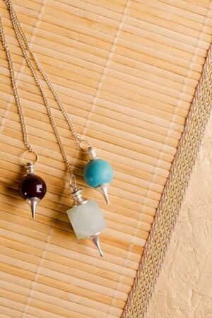 Pendulums for working in a reiki stream