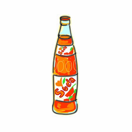 Bottle of soda drawing isolated vector