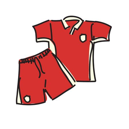 Soccer uniform in isolated vector design