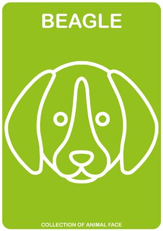 Beagle face - Animal Isolated Vector Icon - animal head