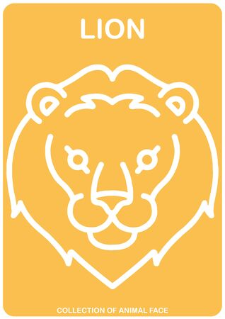 Lion face - Animal Isolated Vector Icon - animal head