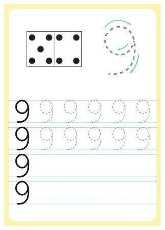 Exercise for preschool and kindergarten kids, Illustrated exercise Vektorové ilustrace