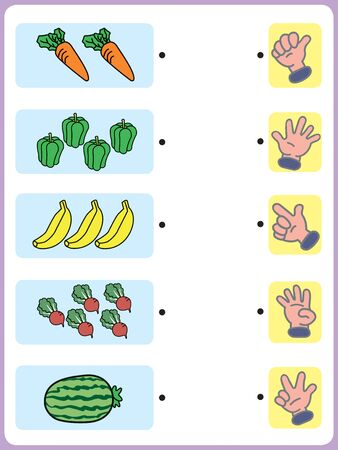 Exercise for preschool and kindergarten kids, Illustrated exercise