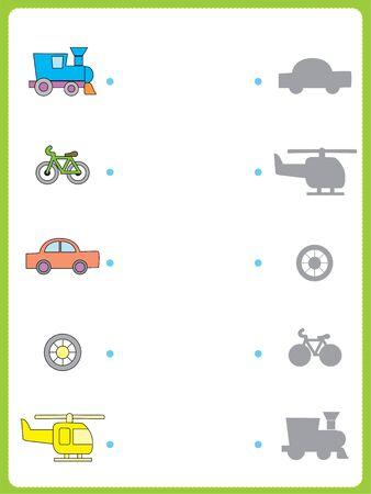 Exercise for children in primary school, learn Worksheet activity for kids Ilustración de vector