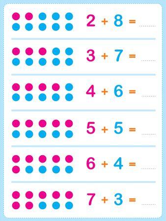 Exercise for children in primary school, learn Worksheet activity for kids