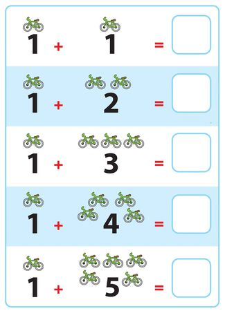 Exercise for children in primary school, learn activity for kids