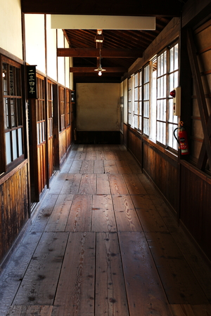 one room school house: Vintage classroom japanese style Editorial