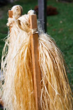 Japanese rope, whip for chasing evil in shrines, Nara, Japan Stock Photo