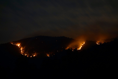 image source: Huge bush fire at a mountain in Myanmar