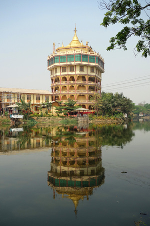 Reflection pagada at City of Mandalay