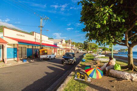 Levuka, Fiji - Jan 9 2015: Colourful vibrant streets of old colonial capital of Fiji - Levuka town, Ovalau island, Lomaiviti archipelago, Fiji, Melanesia, Oceania, South Pacific Ocean. UNESCO heritage