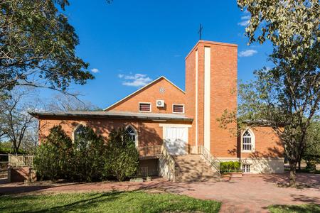 Adonai Church in Filadelfia, in Deutsch mennonite colony Fernheim, Boqueron Department, Gran Chaco, Paraguay.