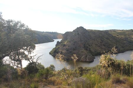 Beautiful image with a large river and some huge ravines Stock fotó