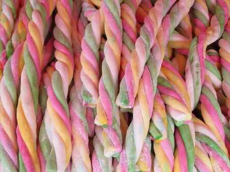Beautiful artisan products sweets of licorice candies with lots of color